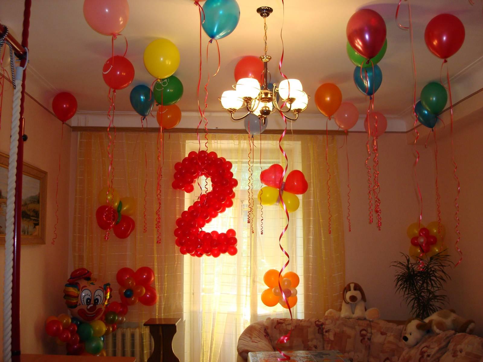 Красивые украшения комнаты на день рождения своими руками