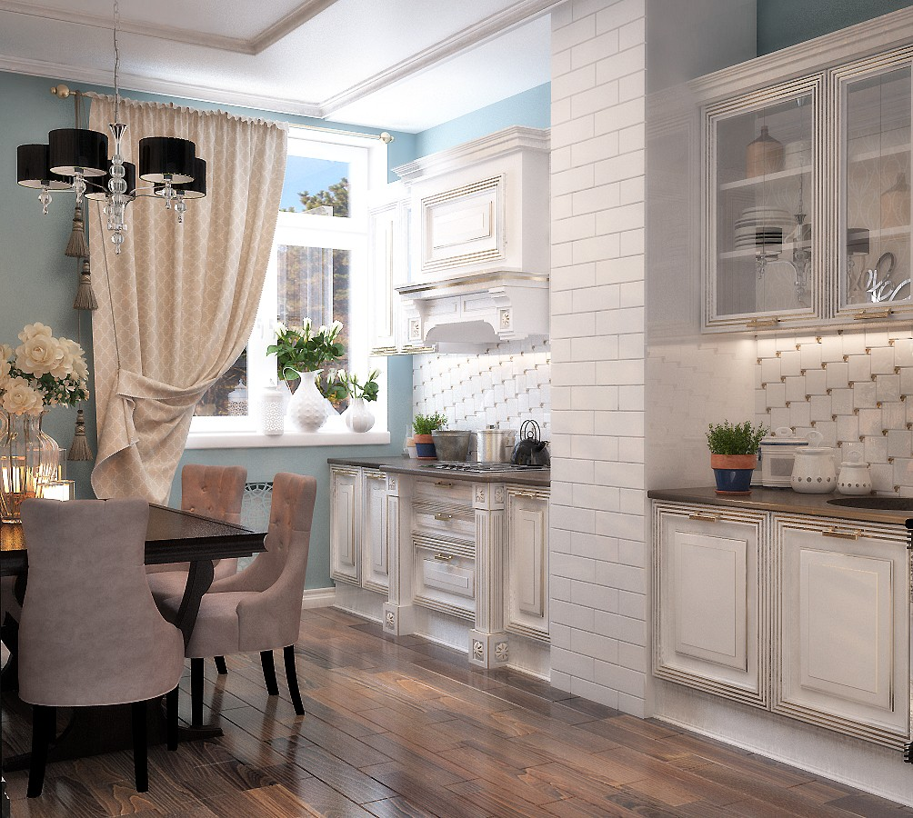 Дизайн кухни в французском стиле дизайн