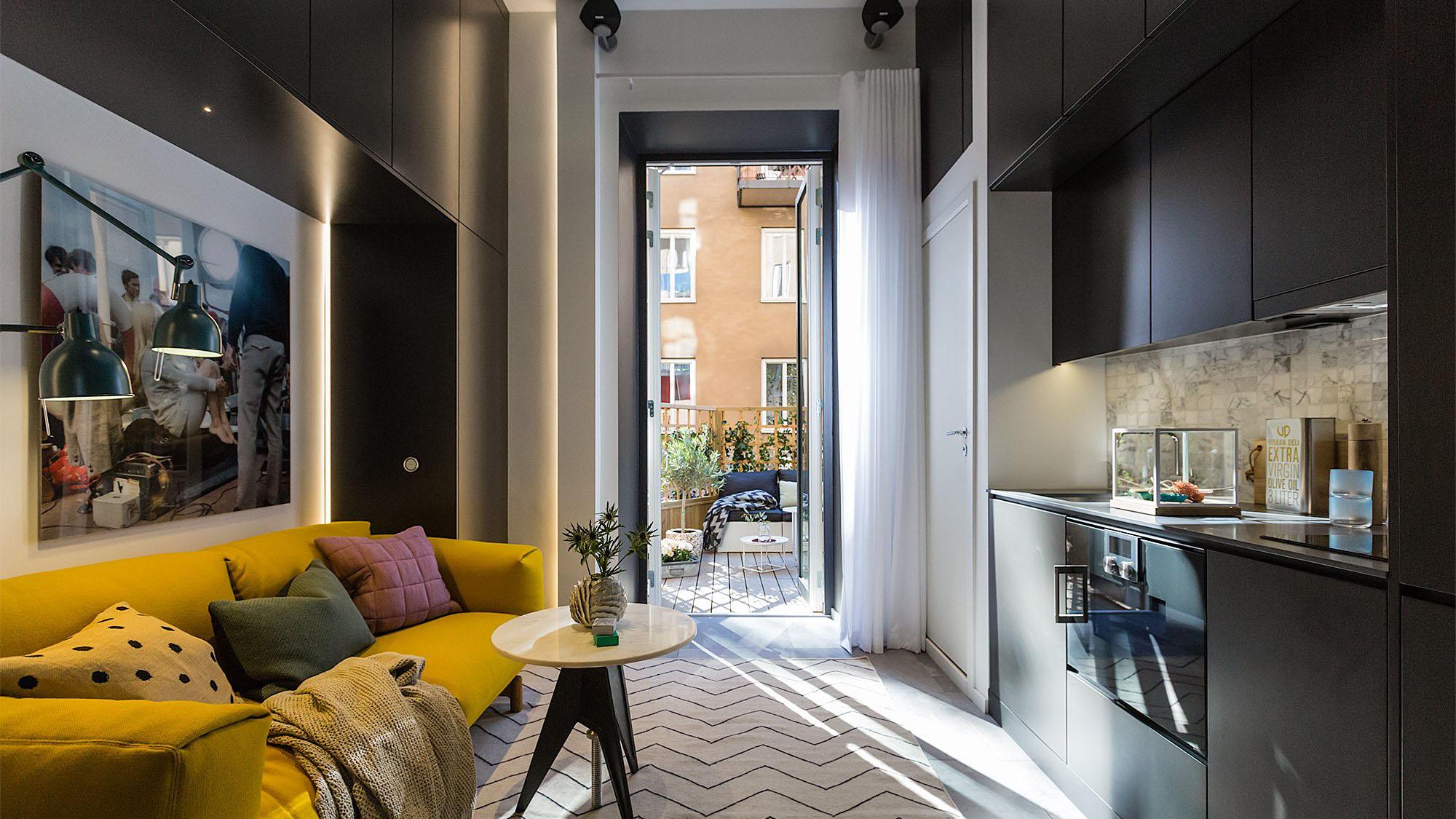 Необычные интерьеры маленьких квартир