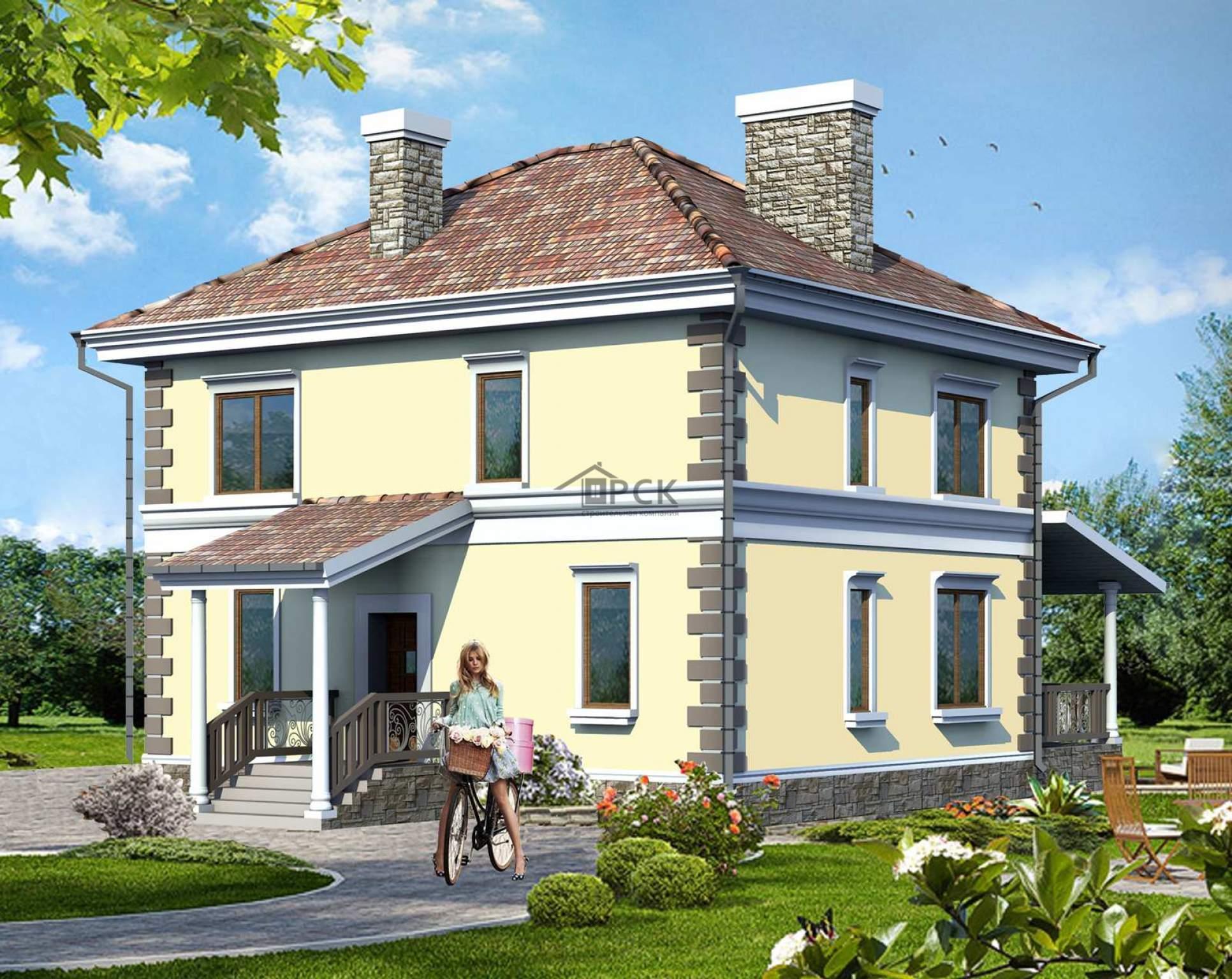 Проекты домов из кирпича двухэтажные фото