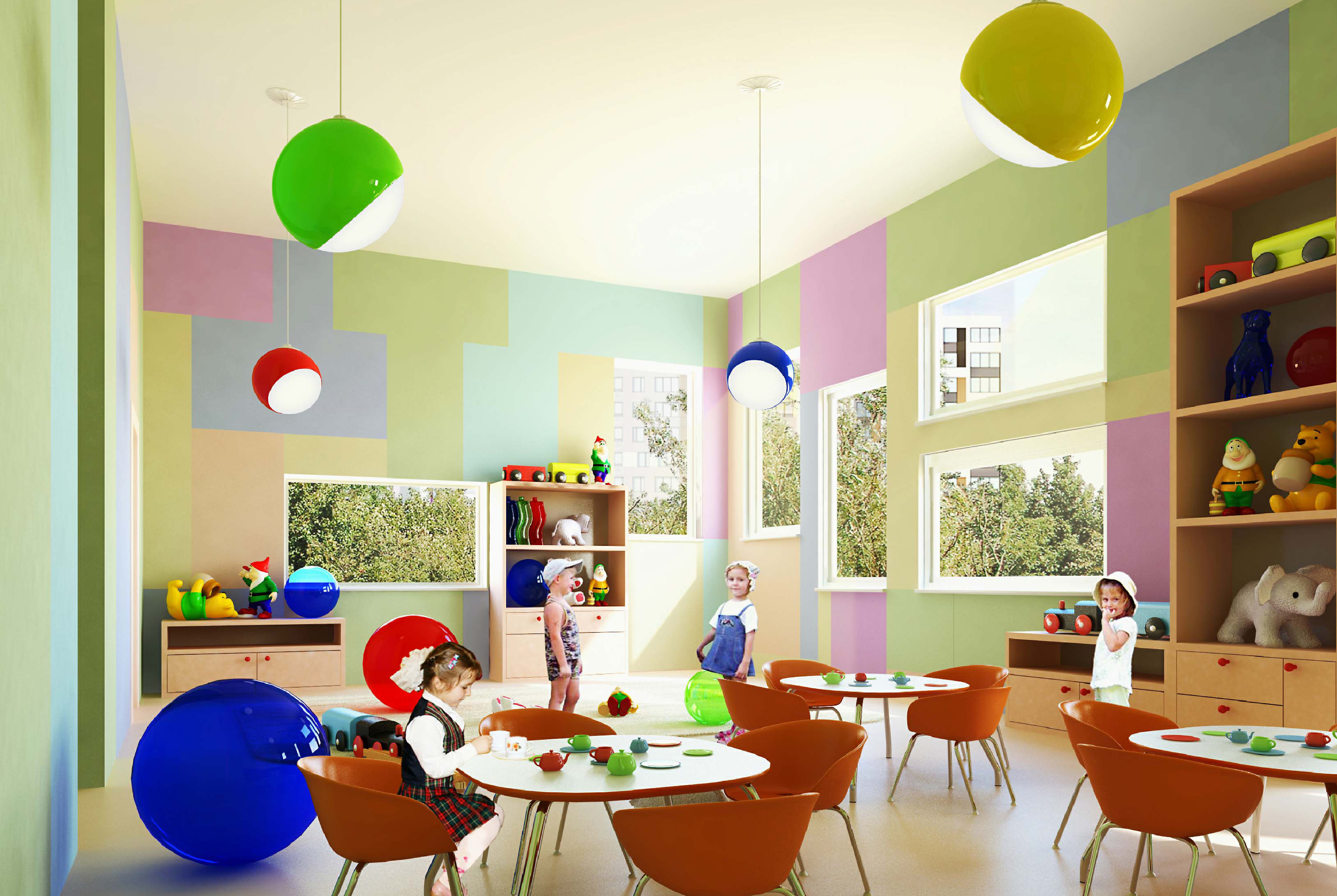 Дизайн интерьера детский сад