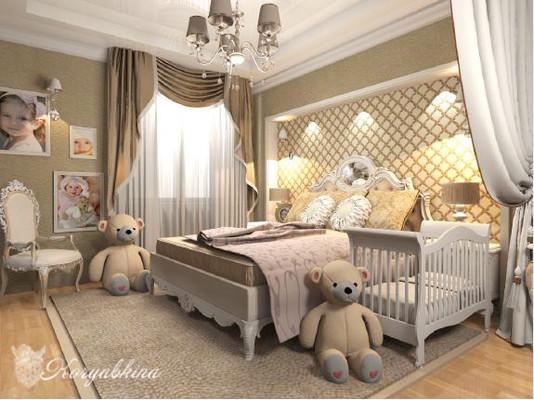 Дизайн спальни с детской кроватью